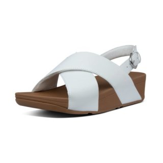 LULU LEATHER BACK-STRAP SANDALS - URBAN WHITE