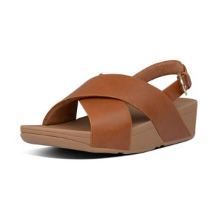 LULU LEATHER BACK-STRAP SANDALS - LIGHT TAN