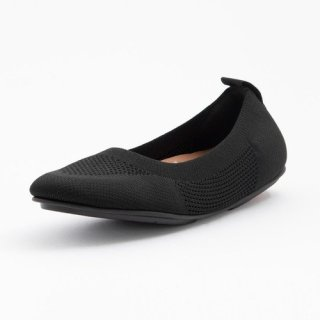 ALLEGRO TONAL KNIT BALLERINAS - ALL BLACK