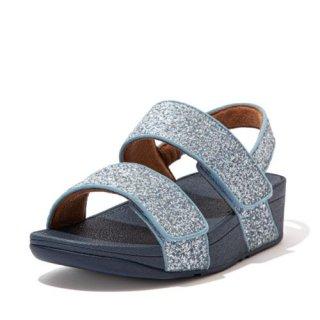 MINA GLITTER MIX BACK STRAP SANDALS - PORCELAIN BLUE