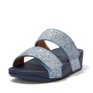 MINA GLITTER MIX SLIDES - PORCELAIN BLUE