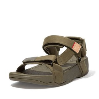 RYKER CANVAS BACK STRAP SANDALS - MILITARY GREEN