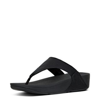 LULU TM LEATHER TOEPOST - BLACK CO