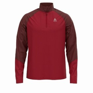 MIDLAYER 1/2 ZIP PLANCHES - ANDORRA   RIO RED stop fw20