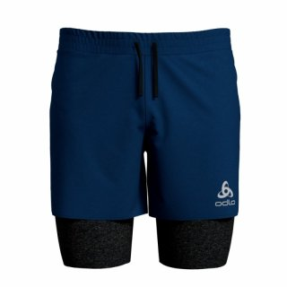 2 IN 1 SHORTS MILLENNIUM PRO - ESTATE BLUE / BLACK
