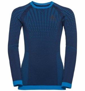 BL TOP CREW NECK L/S PERFORMANCE WARM EC - ESTATE BLUE   DIRECTOIRE BLUE